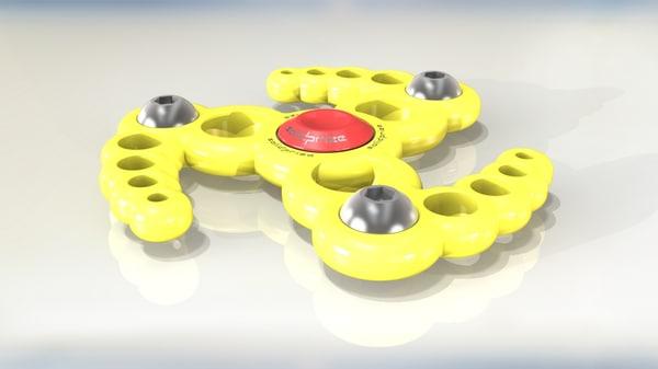 3D hand spinner fidget model