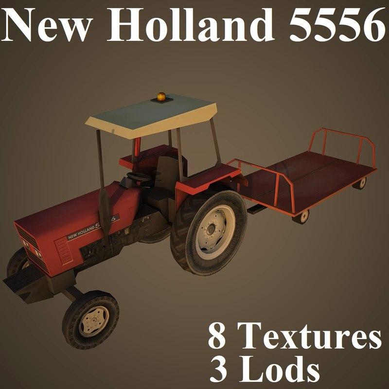 new holland 5556 3D model