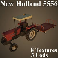 new holland 5556 3D model