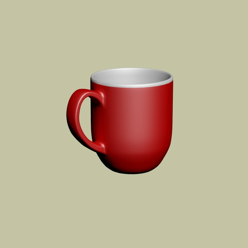 3D red cup model