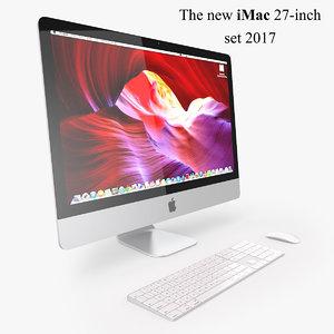 new imac set 2017 3D model