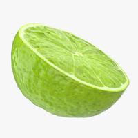 half lime 3D model
