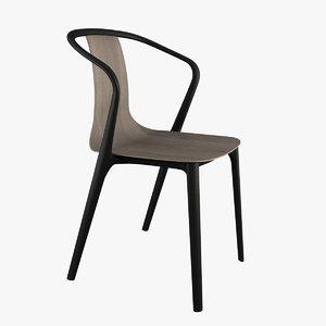 3D belleville armchair chair