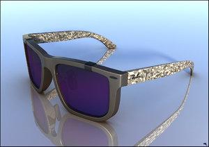glasses sun sunglass 3D