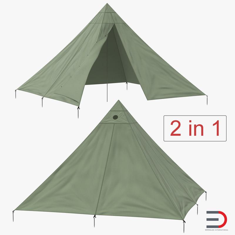 floorless camping tents 3D model