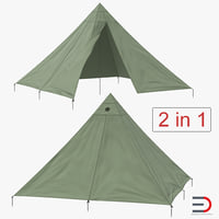 floorless camping tents 3D model