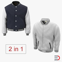 Baseball Jackets 3D Models Collection