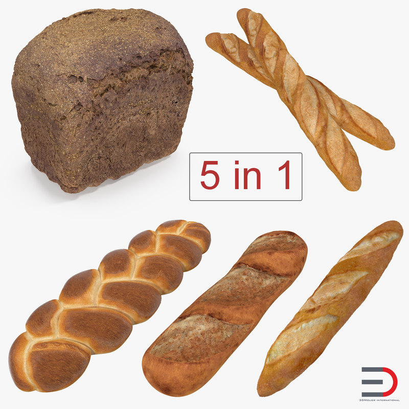 bakery products 2 3D model