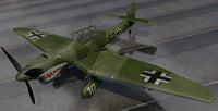 plane junkers ju-87 b-1 3D model