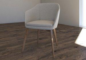 3D leasing chair armchair model