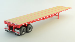 3D flat bed trailer