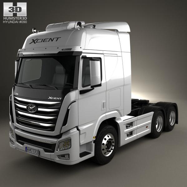 3D xcient hyundai p520