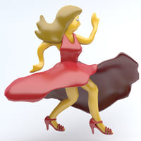 3D emoji icon dancing model
