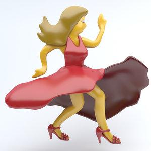 3D emoji icon dancing model