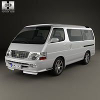 3D toyota hiace h model