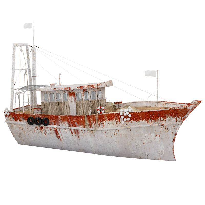 3D boat rusty