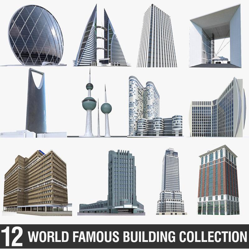 high-rise buildings 3D model
