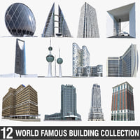 World Famous Buildings Collection - 12 Pack