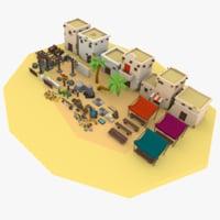 3D model desert city