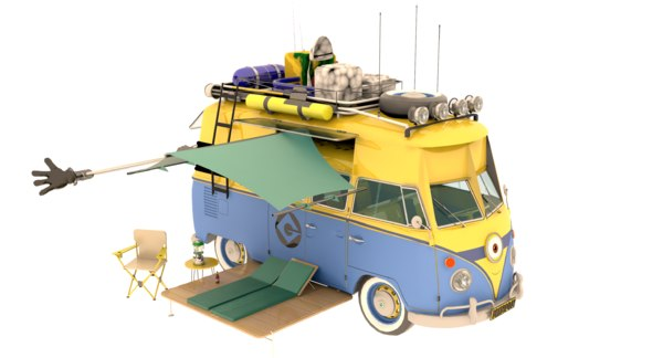 minion camp van model