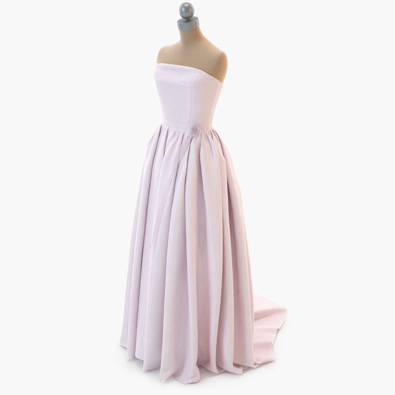 dress mannequin 003 3D model