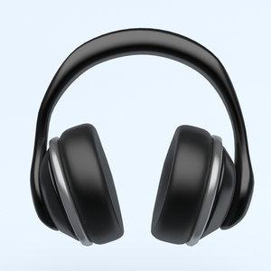 3D model icon phone headphones