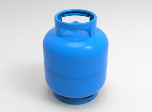 3D lpg cooking gs cylinder model