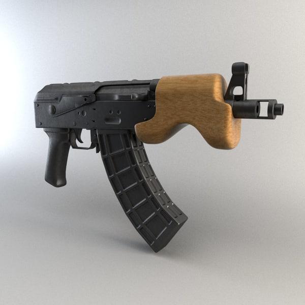 mini ak-47 draco 3D model
