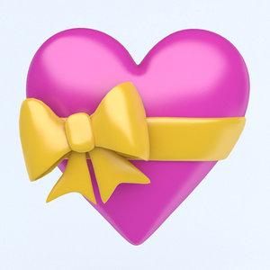 3D heart icon model