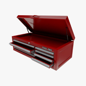 mechanics tool chest box 3D model