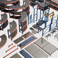 3D model storage rack - modular