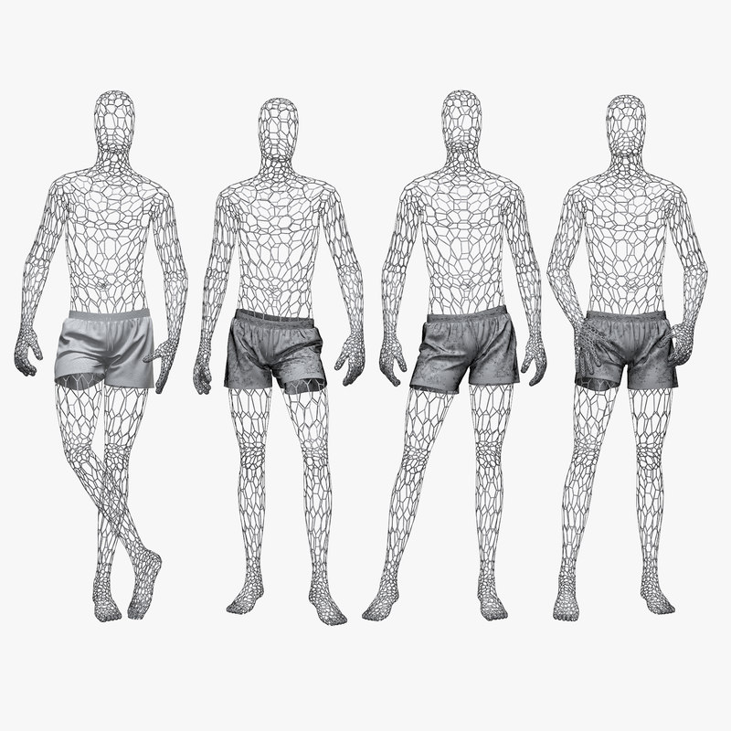 3D set male wire mannequin model - TurboSquid 1179403