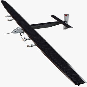 solar impulse 2 3D model