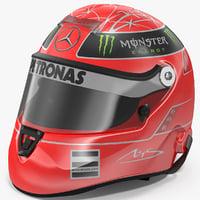 3D helmet michael schumacher 2011