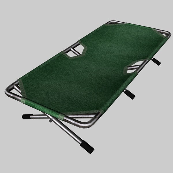 military cot bed 3D