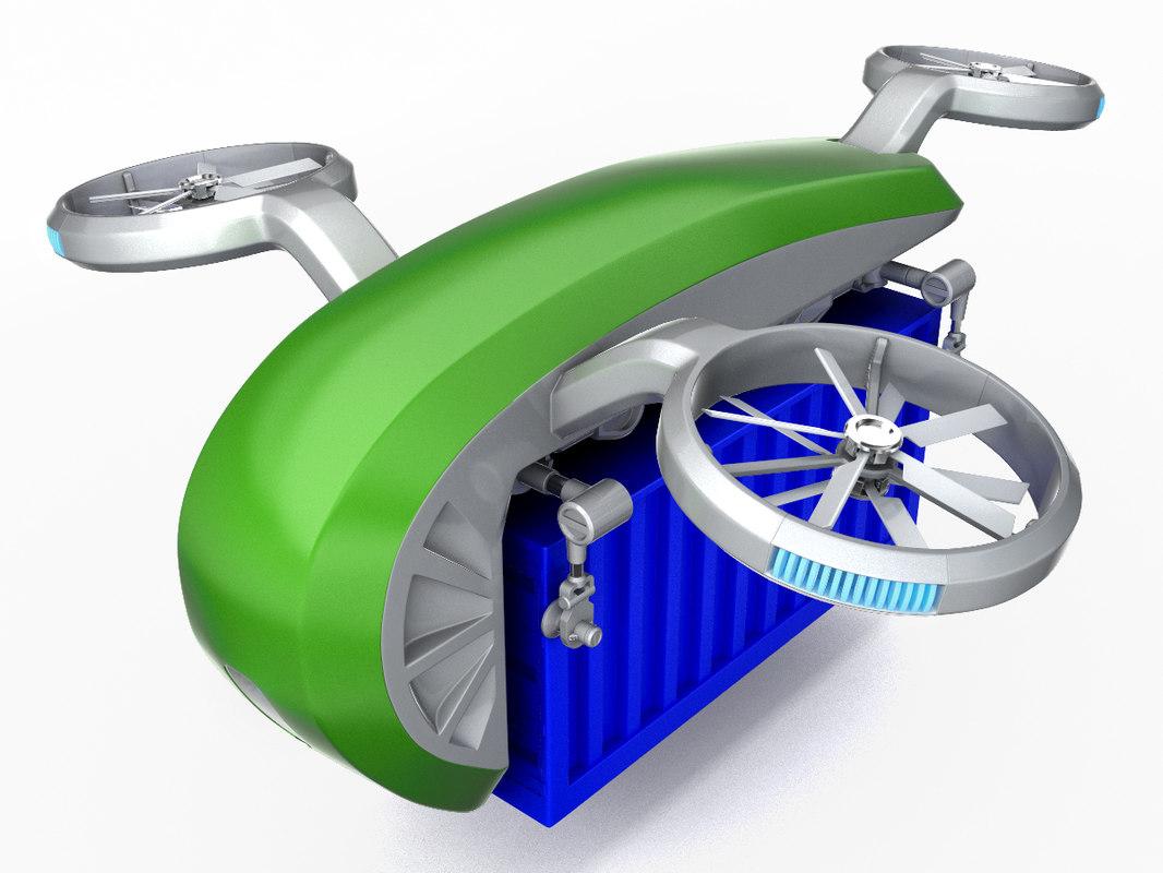 3D heavy cargo quadrocopter