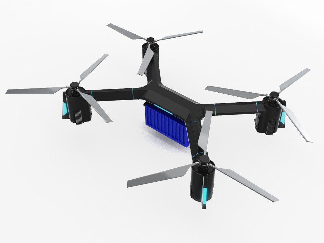 3D heavy cargo quadrocopter model