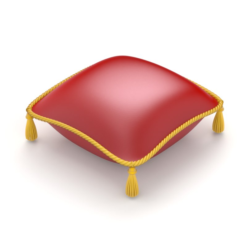 pillow red royal 3D model
