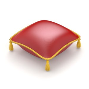 pillow red royal 3D model