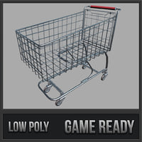 shopping cart pbr 3D