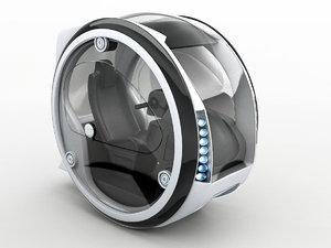 circle car hover 3D model
