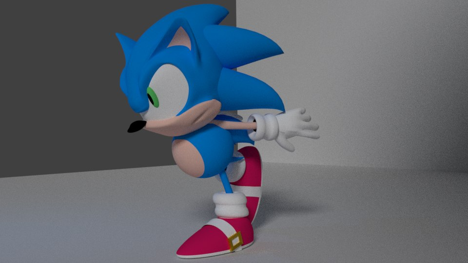3D sonic rigged model