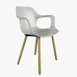hal armchair wood 3D model