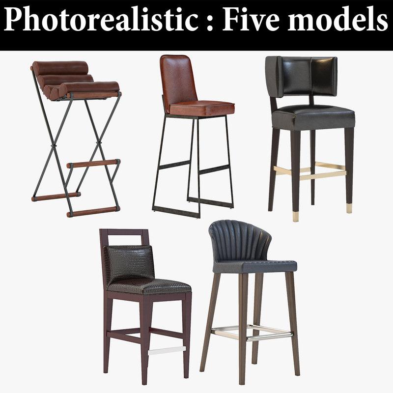 bar stool realistic model