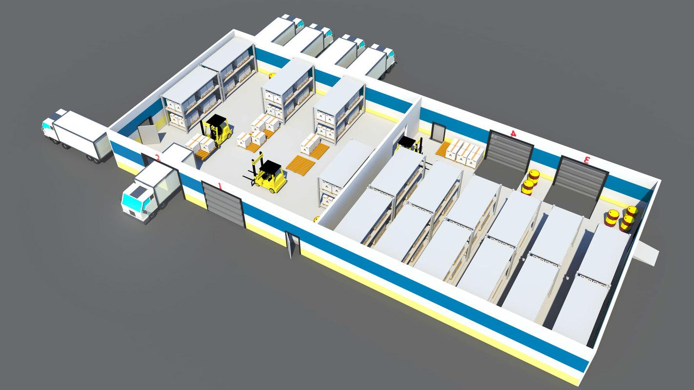 3D model warehouse truck