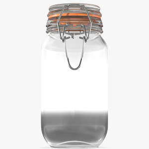 airtight glass jar model