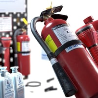 3D emergency set - extinguisher