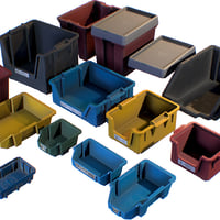 storage plastic crates - 3D model