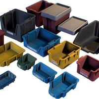 storage plastic crates - 3D model