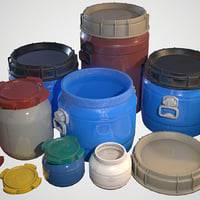 Plastic Barrels - Game ready props